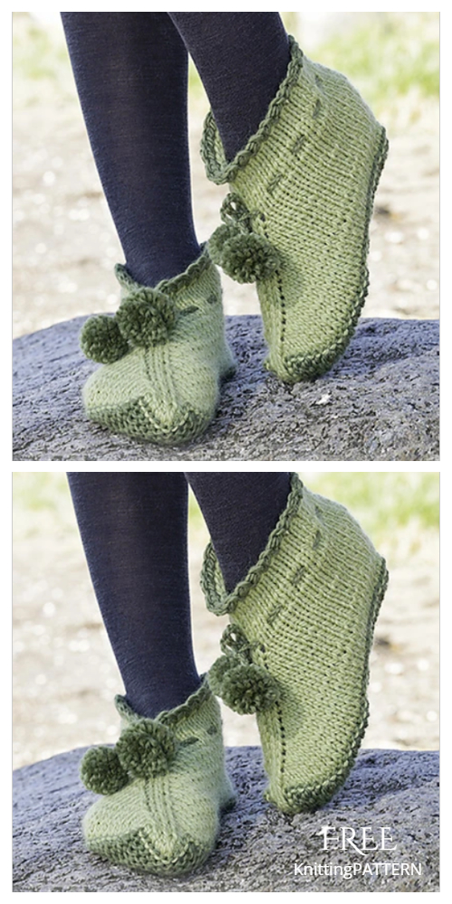 Knit Forest Elf Slippers Free Knitting Patterns