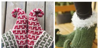 Knit Elf Slippers Free Knitting Patterns