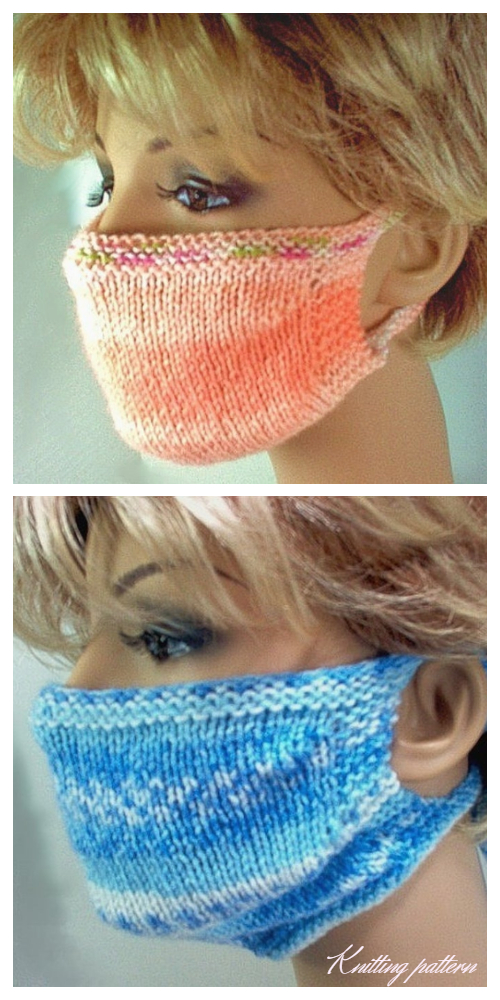 Knit Face Mask Free Knitting Pattern and Paid