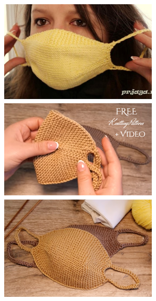 Quick Knit Face Mask Free Knitting Pattern + Video