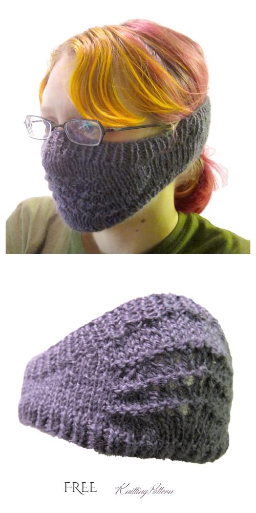 Knit Face Mask Free Knitting Pattern