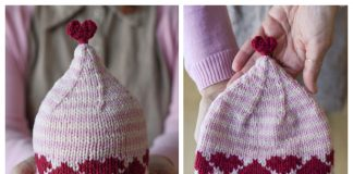 Knit Heart Hat Free Knitting Patterns