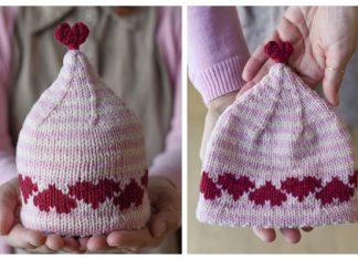 Knit Heart Hat Free Knitting Patterns