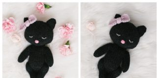 Knit Sleepy Cat Amigurumi Free Knitting Pattern