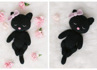 Knit Sleepy Cat Amigurumi Free Knitting Pattern