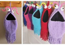 Knit Yip Yips Hanging Bag Free Knitting Pattern