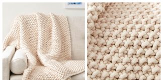 Knit Chunky Seed Stitch Throw Free Knitting Pattern