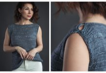 Cumulus Tee Top Free Knitting Pattern - Limited Time