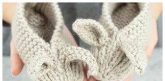 Family Bunny Slippers Free Knitting Pattern