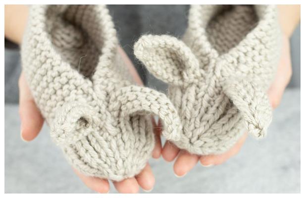 Family Bunny Slippers Free Knitting Pattern - Knitting Pattern