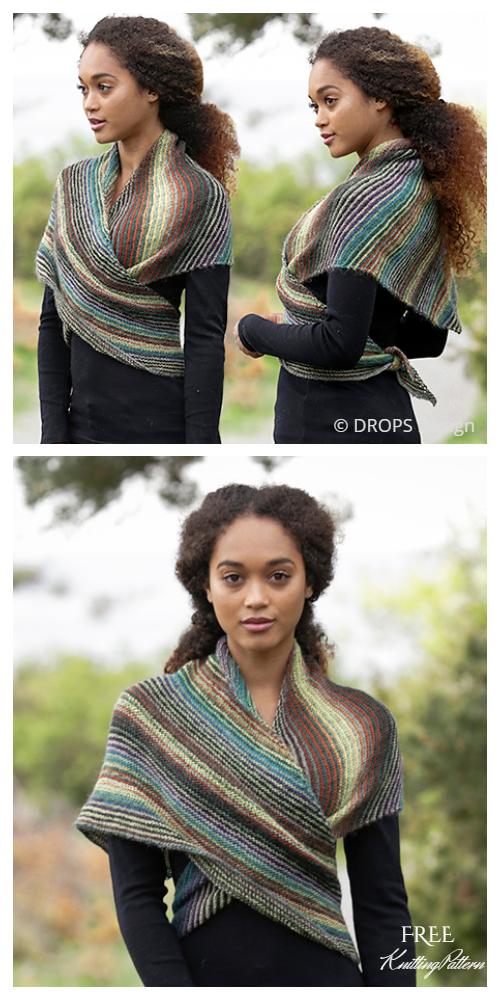 Easy Herbs & Spices Garter Stitch Shawl Free Knitting Patterns