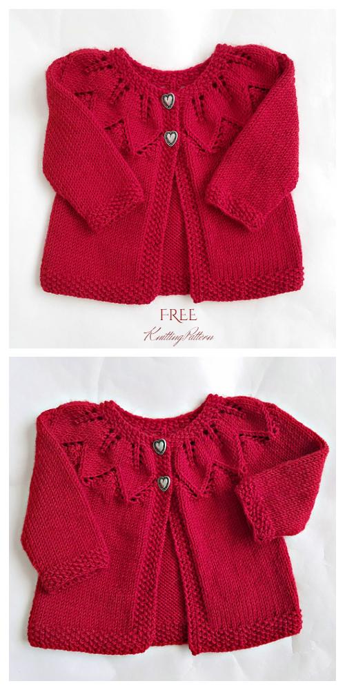 Knit Baby Autumn Leaf Cardigan Free Knitting Patterns