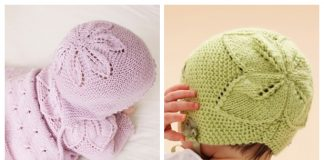 Knit Baby Leaf Cardigan Hat Set Free Knitting Patterns