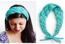Knit Braided Bolena Headband Free Knitting Pattern