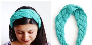 Knit Braided Bolena Headband Free Knitting Pattern