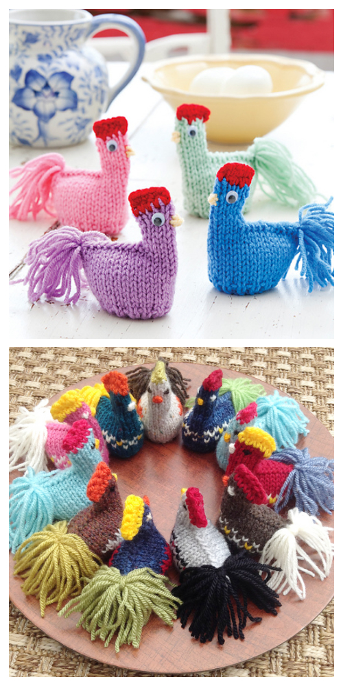Easy Knit Easter Chicks Egg Cozy Free Knitting Patterns