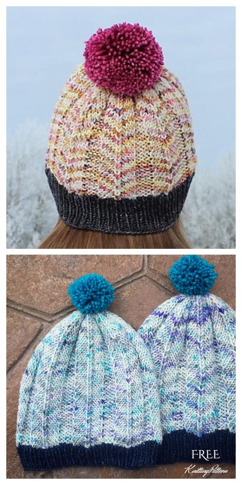 Knit Feathered Hat Free Knitting Pattern