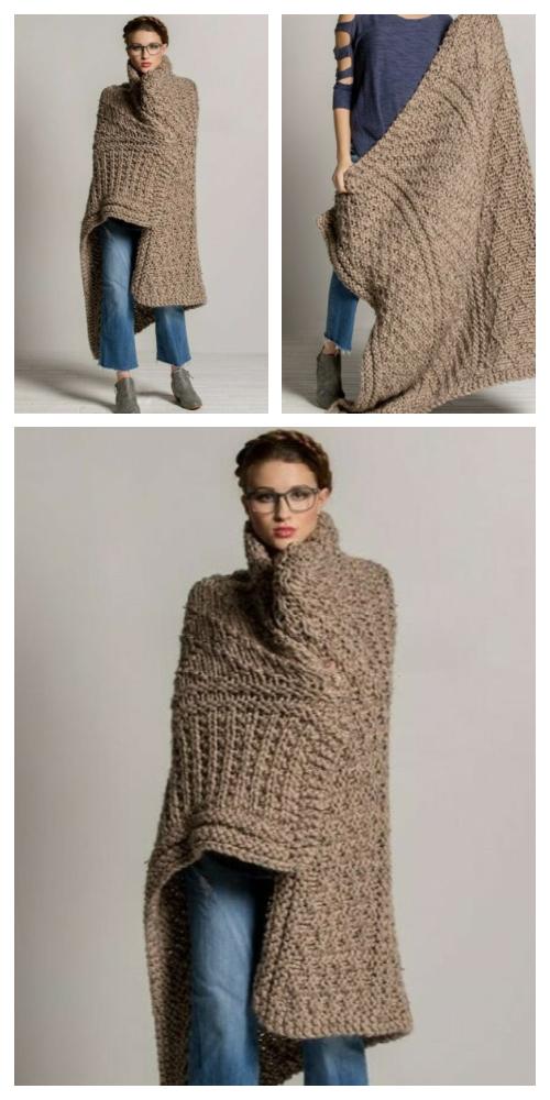 Knit Gansey Throw Blanket Free Knitting Pattern