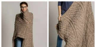Knit Gansey Throw Blanket Free Knitting Pattern