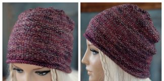 Knit Linen Stitch Beanie Hat Free Knitting Patterns
