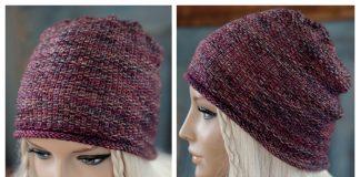 Knit Linen Stitch Beanie Hat Free Knitting Patterns