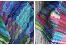 Knit Lizard Ridge Blanket Free Knitting Pattern