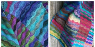 Knit Lizard Ridge Blanket Free Knitting Pattern