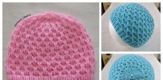 Knit Meshy Squishy Toque Hat Free Knitting Pattern