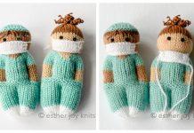 Knit One-Piece Toy Doll Nurse Mates Free Knitting Pattern