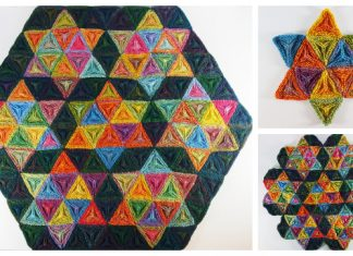 Knit Seven Sisters Triangle Table Cloth Free Knitting Pattern