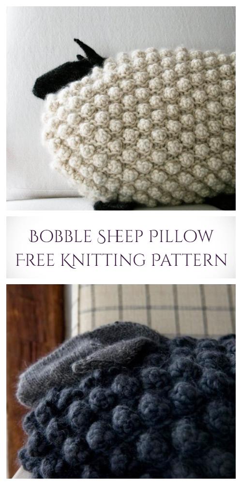 Knit Sheep Pillow Free Knitting Patterns
