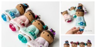 Knit Toy Flower Girls Free Knitting Pattern