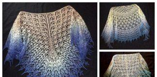 Knit Triangle Lace Shawl Free Knitting Patterns