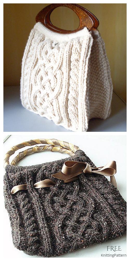 Knit Viking Cable Handbag Free Knitting Pattern