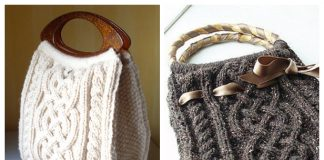 Knit Viking Cable Handbag Free Knitting Pattern