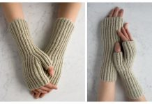 Knit Fisherman's Rib Hand Warmers Free Knitting Pattern