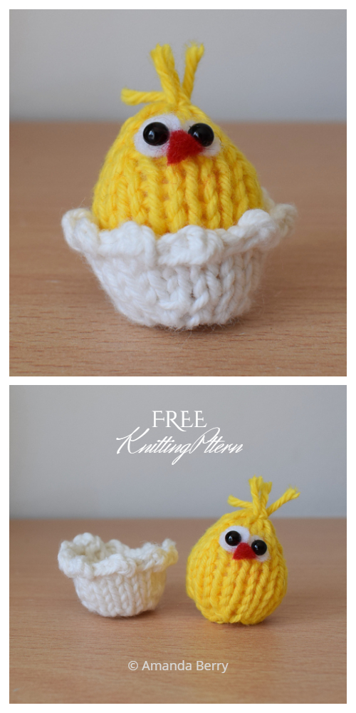 Amigurumi Tiny Easter Chicken Free Knitting Patterns