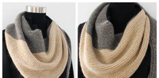 Easy Garter Stitch Shawl Free Knitting Patterns