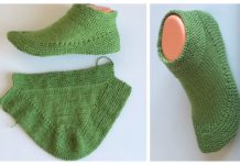 Easy 15 Min One-Piece Adult Slippers Free Knitting Pattern + Video