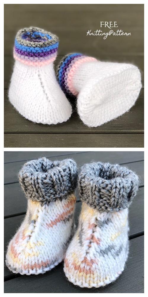 Knit Baby UGG Booties Free Knitting Pattern