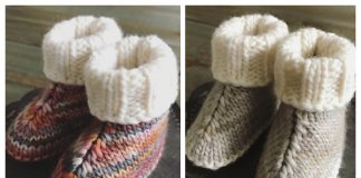 Knit Baby UGG Booties Free Knitting Pattern