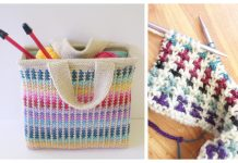 Knit Colorful Scrap Bag Free Knitting Pattern