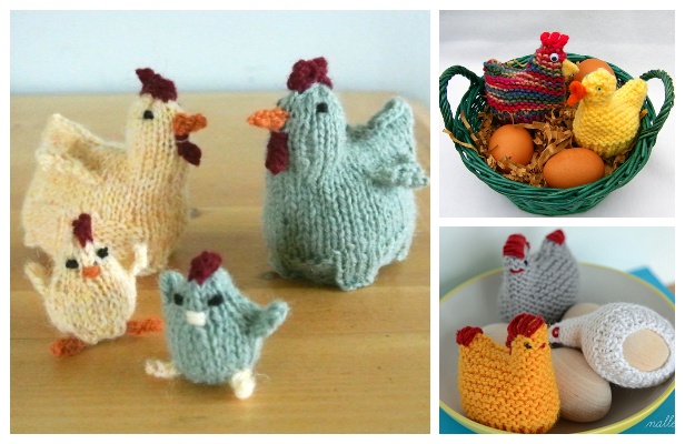 Knit Easter Chicks Egg Cozy Free Knitting Patterns ...