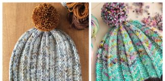 Knit Feathered Hat Free Knitting Pattern