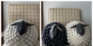 Knit Sheep Pillow Free Knitting Patterns & Paid