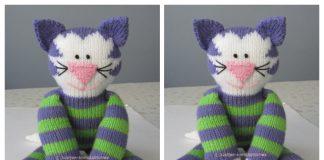 Knit Toy Kitty Free Knitting Pattern