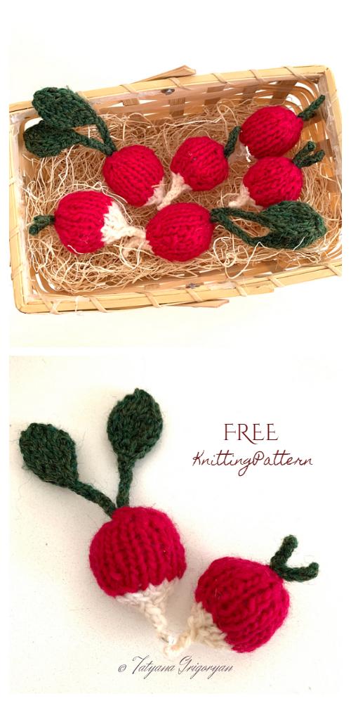 Knit Radiant Toy Radish Free Knitting Patterns