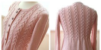 Knit Women Cable Cardigan Free Knitting Pattern