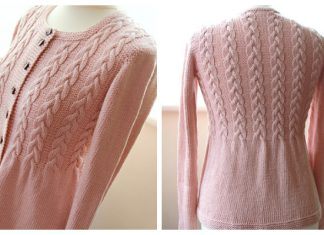 Knit Women Cable Cardigan Free Knitting Pattern