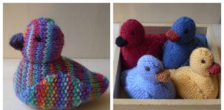 Amigurumi Ducks Free Knitting Pattern